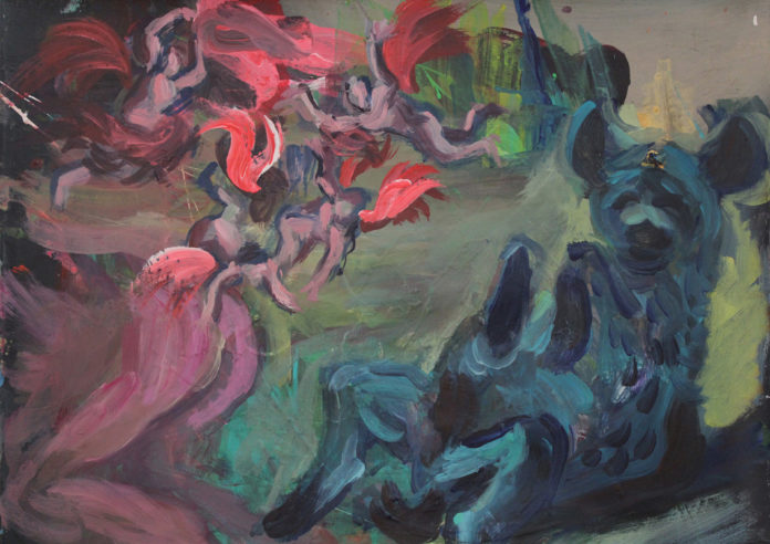 čiastočné halucinácie, 2016, acrylic, canvas, 50x59