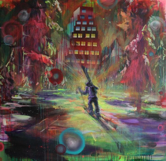 Slovak paradise, 2017, acrylic, canvas, 145x150