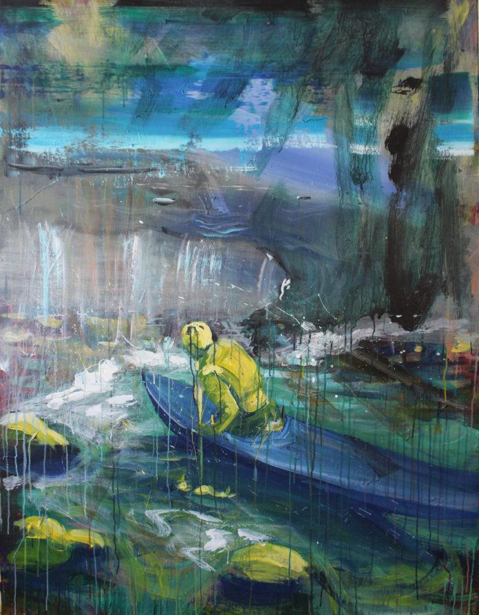 Slovak paradise 1, 2017, acrylic, canvas, 150x115