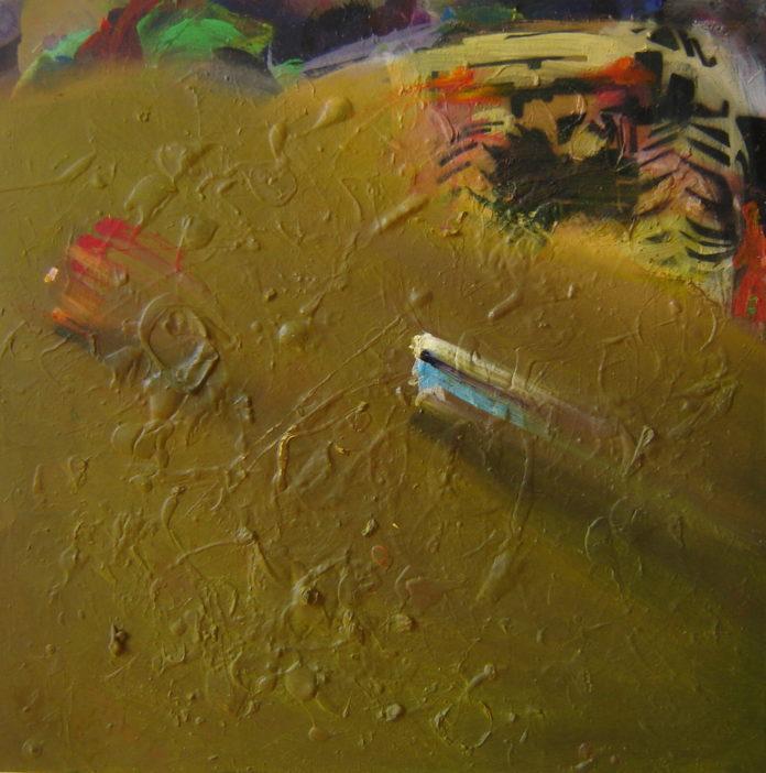 2008, acrylic, oil on canvas, 55x55