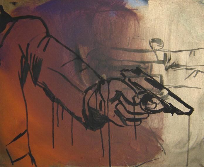 2010, acrylic on canvas, 5x55