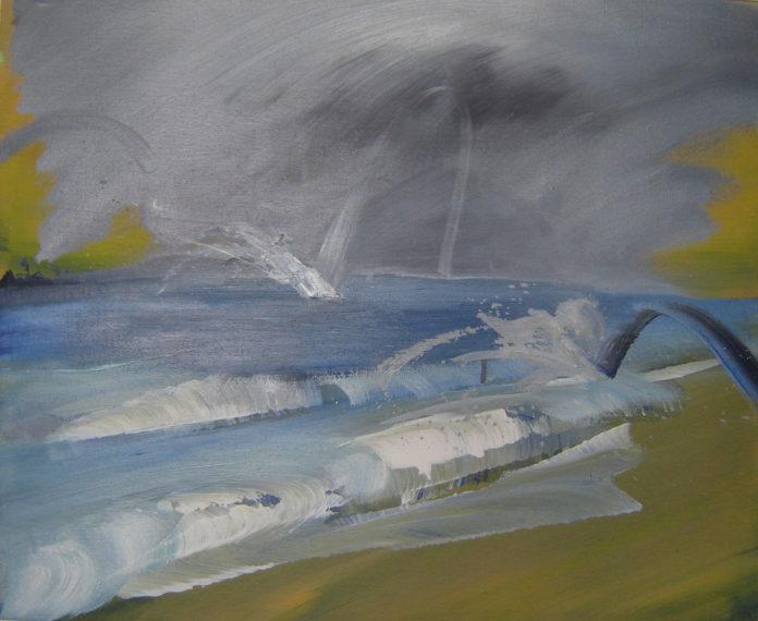 2010, acrylic on canvas-, 5x55