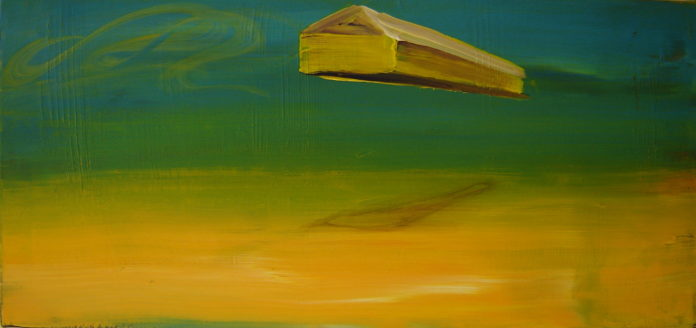 dream is my reality , 2008, acrylic on canvas, 50x100