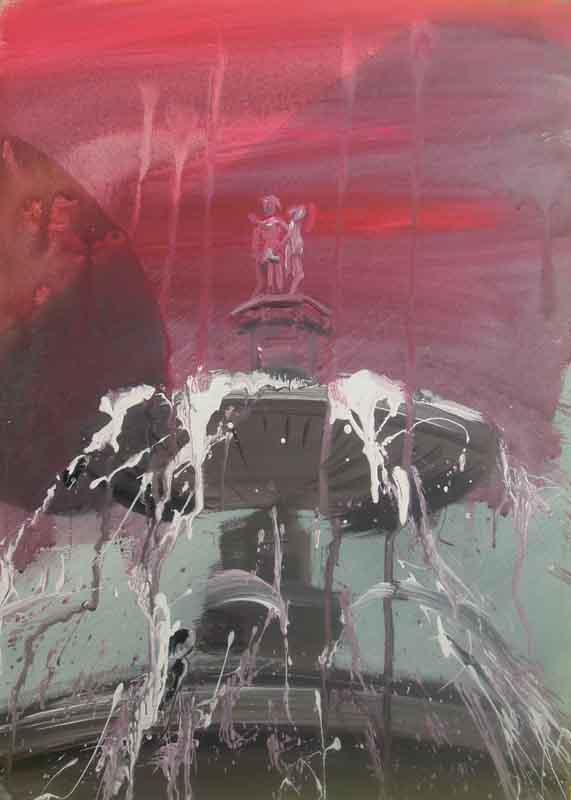 mythical media, 2012, acrylic on canvas, 70x50
