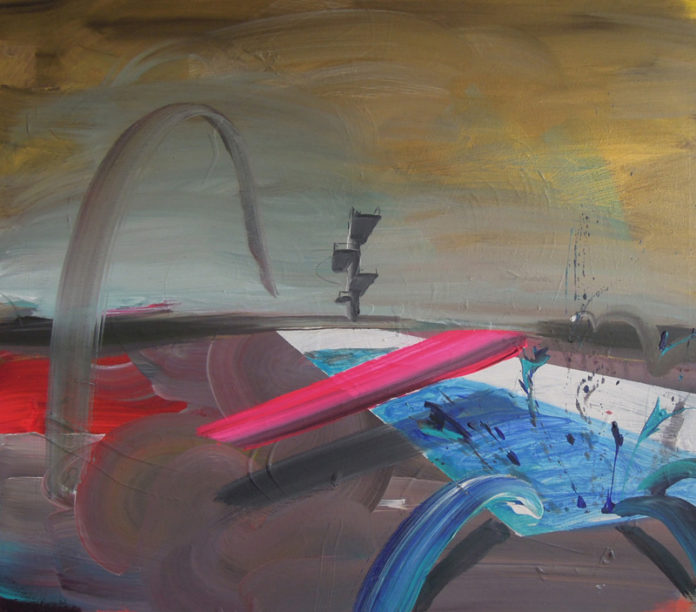 lost paradise, 2012, acrylic on canvas, 58x50