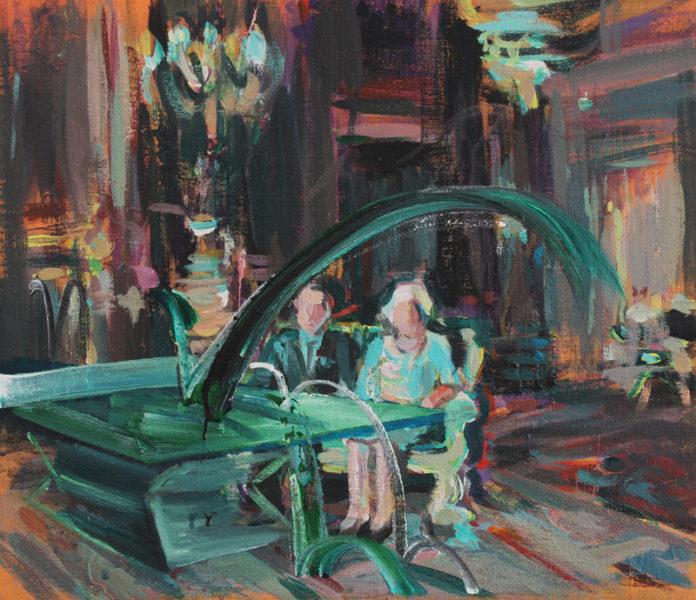 vznešený moment, 2016, acrylic, canvas, 50x58
