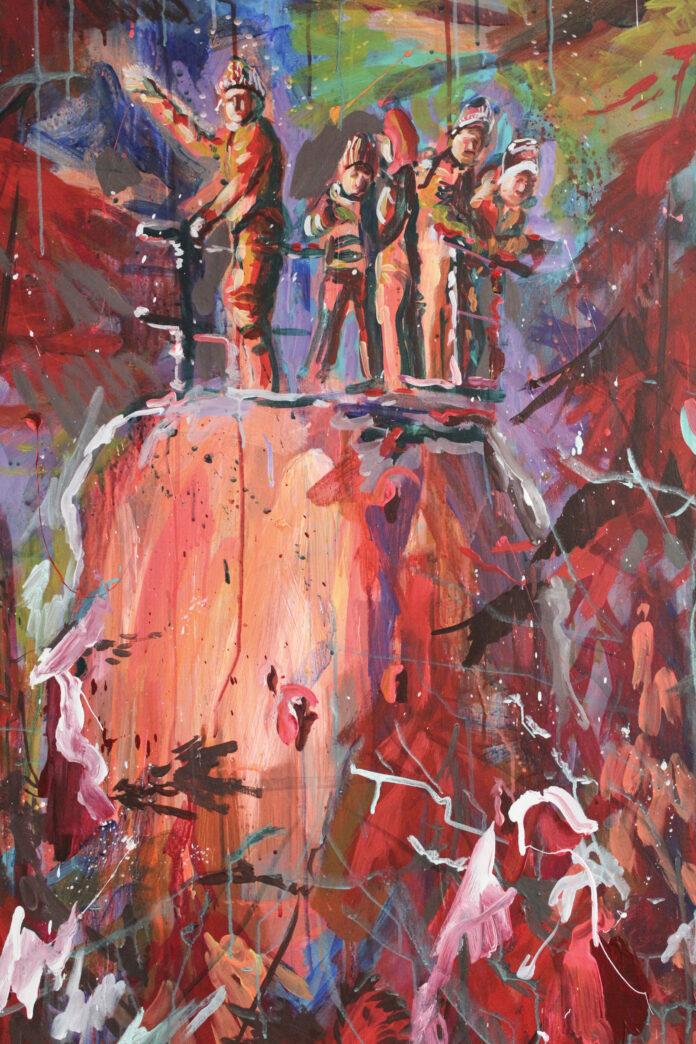 Cynickí anjeli, 2019,acrylic on canvas,120x90