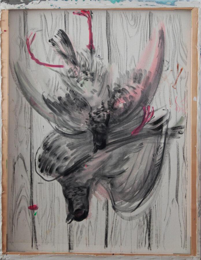 dead game 2, acrylic on canvas, 148x114,